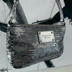 Michael Kors Silver Sequin Clutch